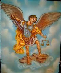 San Miguel San Miguel Arcángel, defiéndenos en la batalla. Sé nuestro amparo contra las perversidad y asechanzas del demonio. Reprímale Dios, pedimos suplicantes, y tu príncipe de la milicia celestial arroja al infierno con el divino poder a Satanás y a los otros espíritus malignos que andan dispersos por el mundo para la perdición de las almas. Amén.