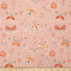 Bunny Tales Butterfly Pink from @fabricdotcom  Designed by Lucie Crovatto for Studio E Fabrics, this hoppy print collection is perfect for spring and Easter. This cotton print is perfect for quilting, apparel and home decor accents. Colors include green, mint, coral, pink, peach and white.