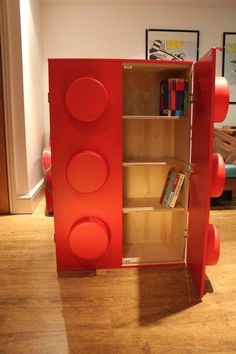This delightful bookcase will turn your child's room into a fun space full of giant building blocks!