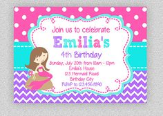 Mermaid Birthday Invitation Girls Birthday by TheTrendyButterfly
