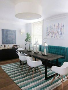 Modern Dining Chairs And 2 Pendants Over Dining Table . Small Dining Room Table Sets Home Furniture Design. Home and Family Narrow Dining Tables, Dining Sofa, Small Dining, Dining Room Chairs, Eames Chairs, High Back Dining Bench, Dining Rooms, High Dining Table, Lounge Chairs
