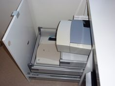 Hidden printer scanner storage, ikeahack ... always looking for a way to hide my printers and scanner.