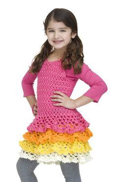 Free Ruffle Dress Crochet Pattern for Girls