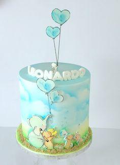 Elegant Birthday Cakes, Baby Birthday Cakes, Beautiful Cakes, Amazing Cakes, Fondant Cakes, Cupcake Cakes, Easy Cakes For Kids, Torta Baby Shower, Sea Cakes