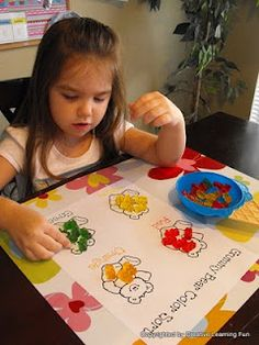 How fun! Great for Pre-K:  Gummy Bear Activity printables (20+ Pages). There is counting, color sorting, patterning, addition, subtraction, graphing and scissor skill activities in the packet. All you need is a big bag of gummy bears! Created by Creative Learning Fun