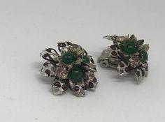 Vintage earrings flower earrings  60s