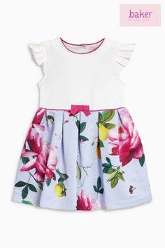 8698a2bad979 Pink Baker By Ted Baker Toddler Girl All Over Pink Printed Floral Dress Ted  Baker Kids
