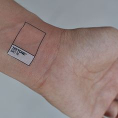Temporary tattoo inspired in Pantone color representation. Gotta love this!