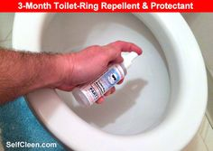 1-Year of Protection for 2-Toilet Bowls. No Scrub - Virtually Self-Cleaning Toilet Bowls. No More Rings - No More Harsh Toilet Bowl Cleaners = More Eco-Friendly. Non-Toxic, Biodegradable and Safe for Septic System| | Toilet Ring Repellent ™ available on Amazon.com and SelfCleen.com | selfcleen.com