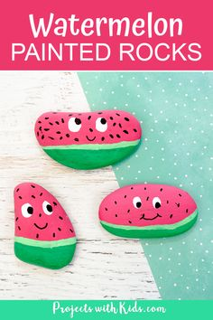 Adorable watermelon painted rocks for kids to make. An easy and fun summer craft that kids will love creating! : Adorable watermelon painted rocks for kids to make. An easy and fun summer craft that kids will love creating! Kids Crafts, Summer Crafts For Kids, Sand Crafts, Rock Crafts, Art For Kids, Crafts With Rocks, Summer Diy, Easter Crafts, Christmas Crafts
