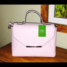 Kate Spade Palermo Handbag NWT Absolutely Gorgeous leather Kate Spade Palermo bag in Posypink!!!  Can be used with the adjustable and detachable strap.  Front flap snaps closed interior offers 2 slip pockets, a zip pocket and the front fold design is also a large pocket. Comes with a Kate a Spade care card. NWT. NO TRADES kate spade Bags