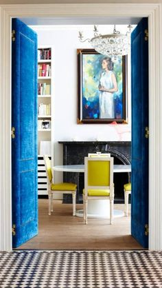 Love the blue and yellow combo!!! #decor #homedecor #blue #yellow #interiordecorating