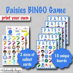 Girl Scouts Daisies BINGO Game  Print Your by MyFashionableDesigns