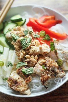 Vietnamese Vermicelli Noodle Bowl (Bun)   thewanderlustkitchen.com