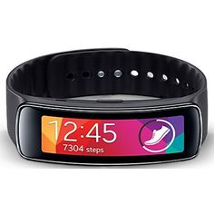 Samsung Gear Fit Fitness Watch with Heart Rate Monitor - Black (Certified Refurbished) >>> You can find more details by visiting the image link.
