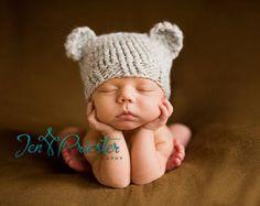 Download PDF knitting pattern k-01 - Newborn Baby-bear hat