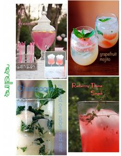 Sips- great drink menu for end of summer party!
