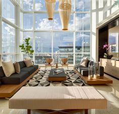Grande baie vitrée lumineuse, un appartement splendide à Mexico.