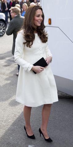 Kate Middleton in einem Mantel von JoJo Maman Bébé
