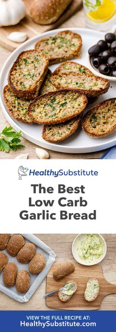 How to Make The Best Low Carb Paleo Garlic Bread - Healthy Substitute