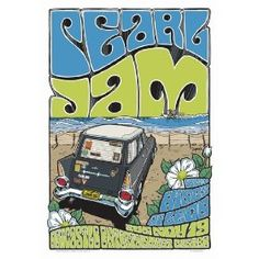 Pearl Jam concert poster - this blue and green are nice.