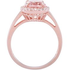 This is the one. Morganite and Diamond Rose Gold Engagement Ring by JPoliseno, $800.00