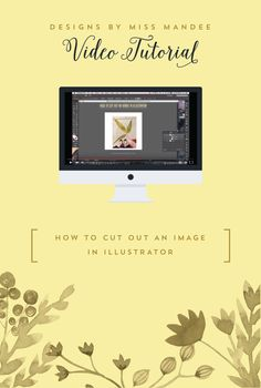 How to Cut Out an Image in Illustrator - Designs By Miss Mandee. This video shows you how to use two simple, but incredibly useful tools that will help you cut/clip out parts of images in Adobe Illustrator.