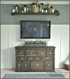 Absolutely Stunning IKEA Hack - Pottery Barn style media cabinet makeover! I would love this style as a tall dresser.
