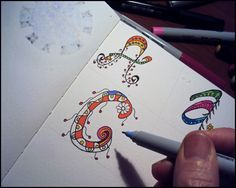 Draw Doodle and Decorate: Swirly Alphabet