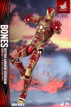 www.pointnet.com.hk - 感覺原來個黑色靚D囉... HOTTOYS 限定版 1/6人偶 IRONMAN Bones Mark XLI (Retro Armor Version)