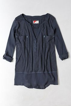 Stitched Jade Tunic from Anthropologie - $58.00