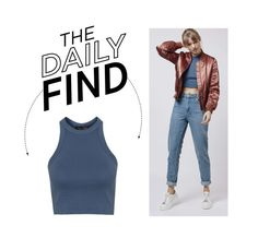 """""""The Daily Find: Topshop Racerback Top"""" by polyvore-editorial ❤ liked on Polyvore featuring Topshop, women's clothing, women's fashion, women, female, woman, misses, juniors and DailyFind"""
