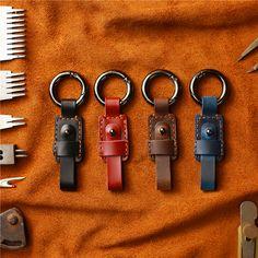 PAL/&SAM Key Organizer Smart Key Holder Checkered Compact Key Chain Keychain Leather