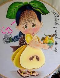 Resultado de imagem para bonecas frutas para pintura em tecido