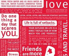 Lulu Lemon Motivation poster: In my office to remind me everyday what this life is really about.