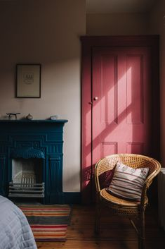 Beautiful Interiors, Colorful Interiors, Beautiful Homes, Interior Decorating, Interior Design, Town And Country, Spare Room, Home Bedroom, Bedrooms