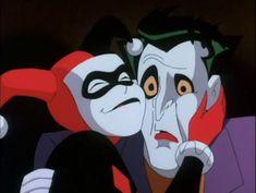 """""""Batman the Animated Series"""" DC Universe The Joker and Harley Quinn or (Doctor) Harleen Quinzel Joker Y Harley Quinn, Joker Batman, Casa Anime, Tara Strong, Batman The Animated Series, Bruce Timm, Cartoon Icons, Vintage Cartoon, Animation Series"""