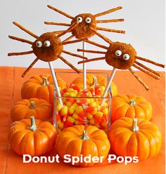 Kids Recipes: Easy Donut Spider Pops For Halloween Dessert