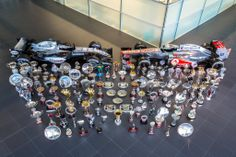 Vodafone McLaren Mercedes Celebrating 150 races over 8 years with Hilton HHonors. Had to stand on a quite a few copies of the yellow pages to get everything in shot.