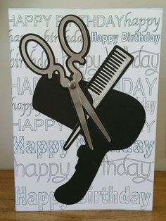 Birthday card for the best hairdresser in town