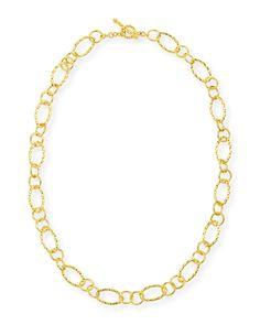 Aegean 18k Gold Twist-Link Necklace - Eli Jewels