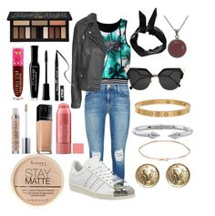 """""""Untitled #95"""" by gilda-golden on Polyvore featuring J Brand, Topshop, adidas, Fendi, Boohoo, Cartier, Chanel, Vita Fede, Jennifer Meyer Jewelry and Rimmel"""