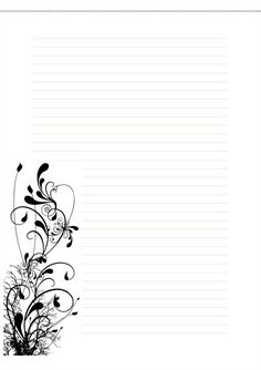 photograph relating to Free Printable Stationery Black and White known as cost-free stationery templates black and white - Mozo