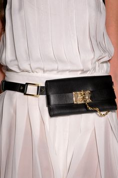Around the Waist - -Rachel Zoe, Spring 2013.  Hahahahaha....fanny packs are in fashion....Hell froze over. :D