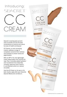 Seacret CC Cream Follow Our products here www.facebook.com/SeacretAgentBeyondCosmetics
