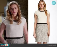 Taylor's two-tone tweed dress on Devious Maids.  Outfit Details: http://wornontv.net/50120/ #DeviousMaids