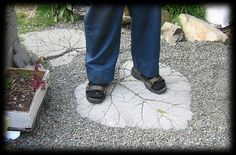 Large Leaf-Shaped Garden Stepping Stone Photo