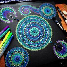 Progress  #mandala #mandalas #mandalaart #mandalala #gellyroll #gellyrollpen #artstuff #doodles