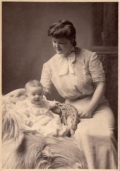 Edwardian mother and baby.