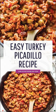 Factors You Need To Give Thought To When Selecting A Saucepan This Turkey Picadillo Recipe Is A Quick And Flavorful Weeknight Meal Full Of Salty, Briny, And Sweet Flavors Entree Recipes, Easy Dinner Recipes, Cooking Recipes, Ww Recipes, Dinner Ideas, Candida Recipes, Cuban Recipes, Healthy Turkey Recipes, Ground Turkey Recipes